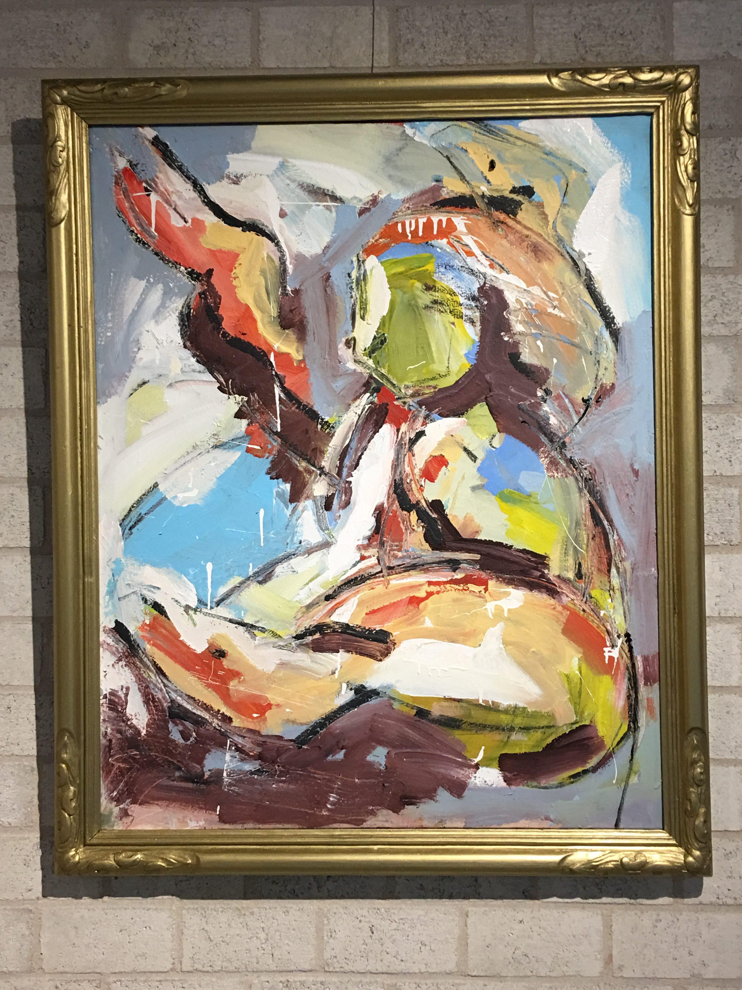 Freedom acryl op doek 110x90 cm